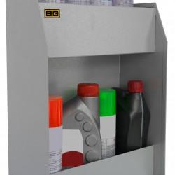 B-G RACING - SMALL TWO SHELF FLUID CABINET (POWDER COATED)