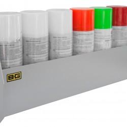 B-G RACING - AEROSOL CAN SHELF (POWDER COATED)