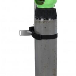 B-G RACING - SINGLE AIR/GAS BOTTLE TROLLEY (POWDER COATED)