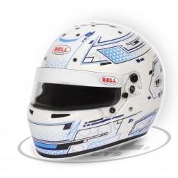 BELL HELMETS - RS7 K STAMINA KARTING HELMET / WHITE-BLUE