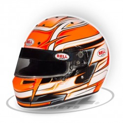 BELL HELMETS - KC7 CMR ORANGE RACING HELMET