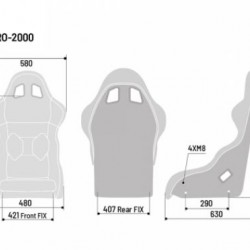 SPARCO GAMING SEATS - PRO 2000 QRT SEAT