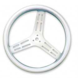 "LONGACRE STEERING WHEELS - 15"" LIGHTWEIGHT UNCOATED ALUMINIUM / BUMP GRIP (DISHED)"