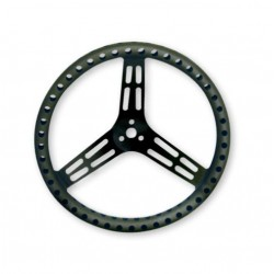 "LONGACRE STEERING WHEELS - 14"" LIGHTWEIGHT UNCOATED BLACK ALUMINIUM"