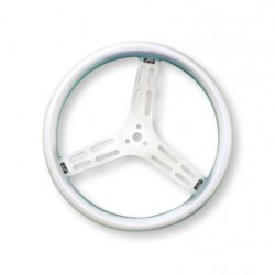 "LONGACRE STEERING WHEELS - 15"" LIGHTWEIGHT UNCOATED ALUMINIUM / SMOOTH GRIP (DISHED)"