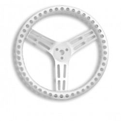 "LONGACRE STEERING WHEELS - 15"" LIGHTWEIGHT UNCOATED ALUMINIUM (DISHED)"
