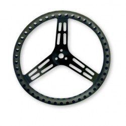 "LONGACRE STEERING WHEELS - 15"" LIGHTWEIGHT UNCOATED BLACK ALUMINIUM (DISHED)"
