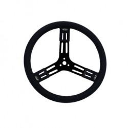 "LONGACRE STEERING WHEELS - 15"" STEEL BLACK (SMOOTH)"