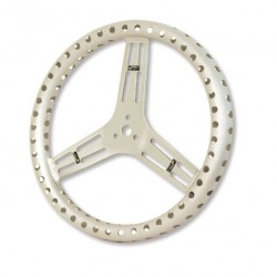 "LONGACRE STEERING WHEELS - LIGHTWEIGHT 15"" UNCOATED ALUMINIUM (FLAT)"