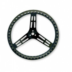 "LONGACRE STEERING WHEELS - 15"" LIGHTWEIGHT UNCOATED ALUMINIUM (FLAT)"
