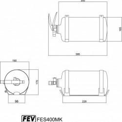 FEV FIRE EXTINGUISHERS - FES400MK