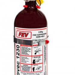 FEV FIRE EXTINGUISHERS - NOVEC 1230
