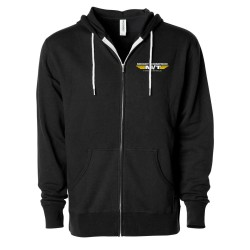 MICKEY THOMPSON APPAREL - BLACK UNISEX FULL ZIP HOODIE