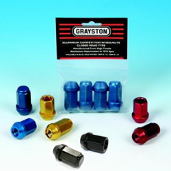 GRAYSTON ALLOY WHEEL NUTS - OPEN & CLOSED