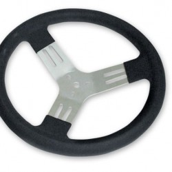 "LONGACRE 13"" KART STEERING WHEEL - BLACK"