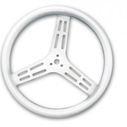 "LONGACRE LIGHTWEIGHT STEERING WHEEL - 14"" UNCOATED ALUMINIUM SMOOTH GRIP - DISHED"
