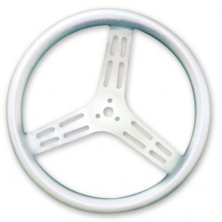 "LONGACRE LIGHTWEIGHT STEERING WHEEL - 15"" UNCOATED ALUMINIUM WITH BUMP GRIP - DISHED"