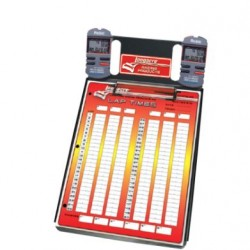 LONGACRE CLIPBOARD - 2 CAR STOPWATCH CLIPBOARD WITH ROBIC™ SC 505W