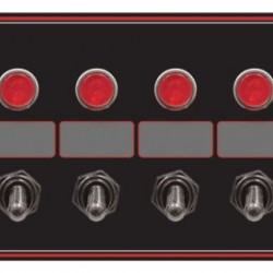 LONGACRE 4 ACCESSORY SWITCH PANEL WITH 4 PILOT LIGHTS