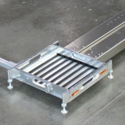 "LONGACRE  LEVELERS & ROLL OFFS - BILLET SCALE PAD LEVELERS WITH ONE BUILT IN SIDESLIDER FOR 2 1/2"" PADS (SET OF 4)"