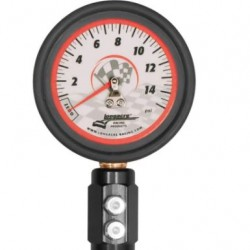 """LONGACRE ANALOG TYRE GAUGES - DELUXE 21/2"""" GID TYRE GAUGE 0-15 BY 1/4"""" LB"""